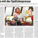 """Pressebericht über Barbara Weinzierl Kabarett """"Wir müssen reden! Sex, Geld und Erleuchtung"""" in Wahlheim März ´19"""