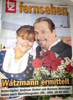 """Barbara Weinzierl und Andreas Giebel in ARD-Vorabend-Krimiserie """"Watzmann ermittelt"""""""
